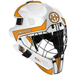 Maska Unihoc Optima 66 Bielo-oranžová