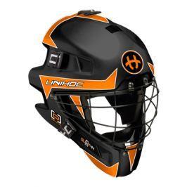Maska Unihoc Feather 44 Čierno-oranžová