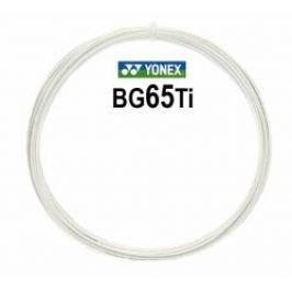 Bedmintonový výplet Yonex Micron BG65Ti White (0.70 mm) - strihaný