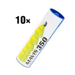 Bedmintonové košíky Yonex Mavis 350 Yellow (dóza po 6 ks) - 10 ks
