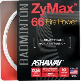Bedmintonový výplet Ashaway ZyMax 66 Fire Power White