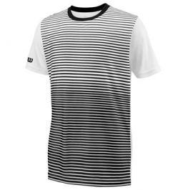 Detské tričko Wilson Team Striped Crew Black/White