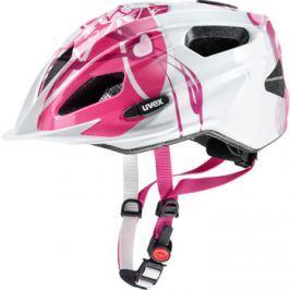 Detská cyklistická prilba Uvex Quatro Junior ružovo-strieborná 2017