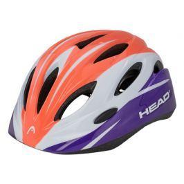 Detská cyklistická prilba Head Kid Y01 bielo-lososová
