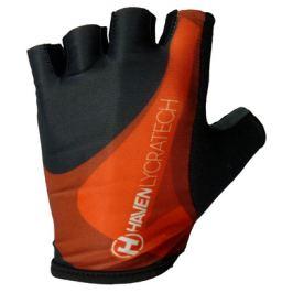 Cyklistické rukavice HAVEN Lycra čierno-červené