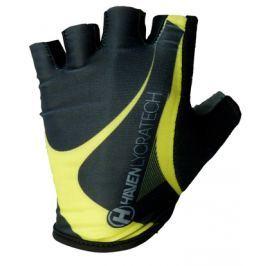 Cyklistické rukavice HAVEN Lycra čierno-zelené