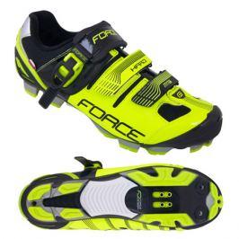 Cyklistické tretry Force MTB HARD fluo-čierne