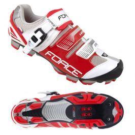 Cyklistické tretry Force MTB HARD bielo-červené