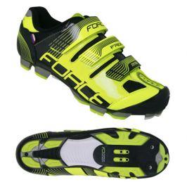 Cyklistické tretry Force MTB FREE fluo-čierne