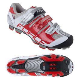 Cyklistické tretry Force MTB FREE bielo-červené
