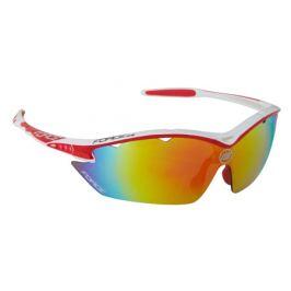 Cyklistické okuliare Force RON bielo-červené, multilaser skla