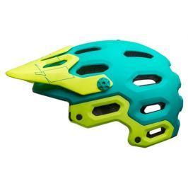 Cyklistická prilba BELL Super 3 MIPS matná zelená - žltá