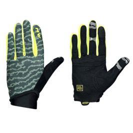 Dlouhoprsté cyklistické rukavice Northwave Blaze 2 zeleno-žlté