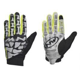 Dlouhoprsté cyklistické rukavice Northwave Skeleton Original čierno-žlté