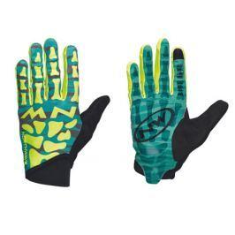 Dlouhoprsté cyklistické rukavice Northwave Skeleton Original zeleno-žlté