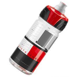 Fľaša ELITE CRYSTAL OMBRA číra/červená 550 ml