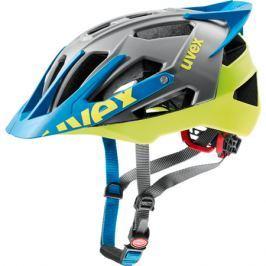 Cyklistická prilba Uvex Quatro Pro antracitovo-limetková matná