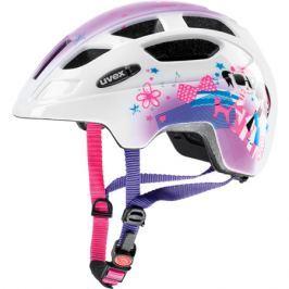Detská cyklistická prilba Uvex Finale Junior bielo-ružová