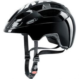 Detská cyklistická prilba Uvex Finale Junior LED čierna-biela