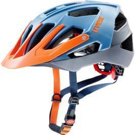 Cyklistická prilba Uvex Quatro modrá-strieborná-oranžová