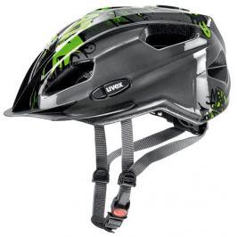 Detská cyklistická prilba Uvex Quatro Junior antracitová-zelená