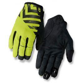 Dlouhoprsté cyklistické rukavice GIRO DND čierno-limetkovej