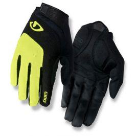 Dlhoprsté cyklistické rukavice GIRO Bravo LF čierno-žlté