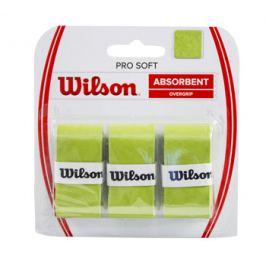 Omotávka na rakety vrchná Wilson Pro Soft Overgrip Lime (3 ks)