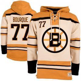 Pánska mikina s kapucňou Old Time Hockey Vintage Player Lacer NHL Boston Bruins Ray Bourque 77