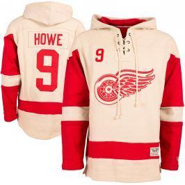 Pánska mikina s kapucňou Old Time Hockey Vintage Player Lacer Detroit Red Wings Gordie Howe 9