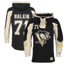Pánska mikina s kapucnou Old Time Hockey Player Lacer Pittsburgh Penguins Jevgenij Malkin 71