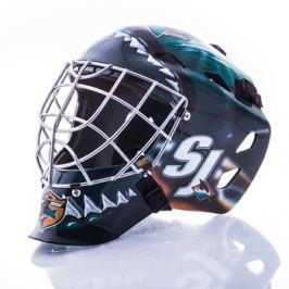 Mini brankárska prilba Franklin NHL San Jose Sharks