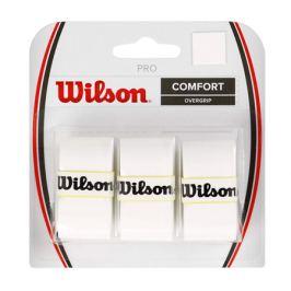 Omotávka na rakety vrchná Wilson Pro Overgrip White (3 ks)