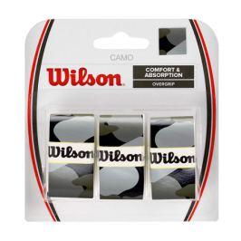 Omotávka na rakety vrchná Wilson Camo Overgrip Black (3 ks)