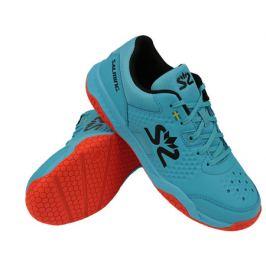Juniorská halová obuv Salming Hawk Court Junior Blue/Red