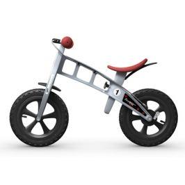 Detské odrážadlo First Bike Cross strieborné