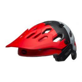 Cyklistická prilba BELL Super 3 matná červeno-čierno-šedá