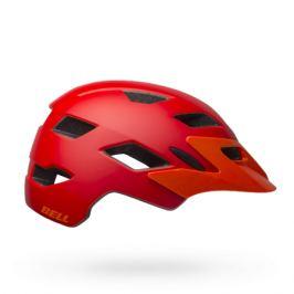 Detská cyklistická prilba BELL Sidetrack Youth matná červeno-oranžová