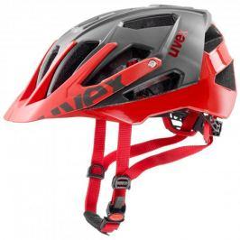 Cyklistická helma Uvex Quatro šedo červená