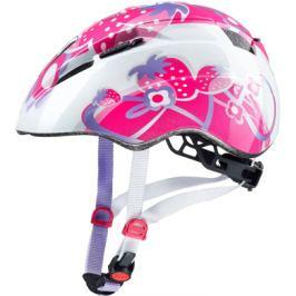 Detská cyklistická prilba Uvex Kid 2 ružové jahody