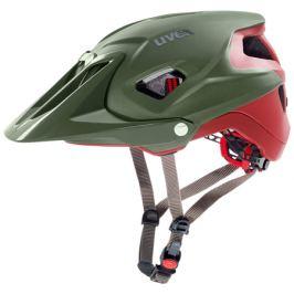 Cyklistická prilba Uvex Quatro Integrale zeleno-červená