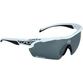Cyklistické okuliare Force AEON bielo-čierne, čierne laserové sklá