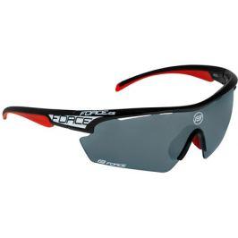 Cyklistické okuliare Force AEON čierno-červené, čierne sklá