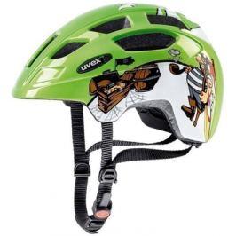 Detská cyklistická prilba Uvex Finale Junior zelený pirát