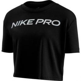 Dámske tričko Nike Dry Tee Pro SS Crop čierne