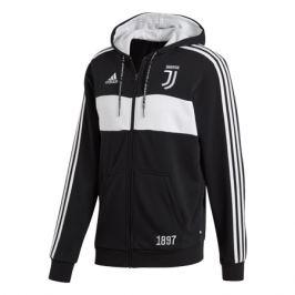 Pánska mikina na zips s kapucňou adidas Juventus FC čierno-biela