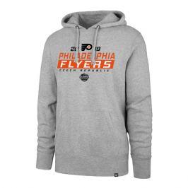 Pánska mikina s kapucňou 47 Brand Headline Hood NHL Philadelphia Flyers šedá GS19