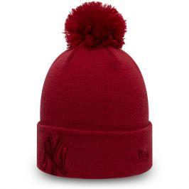 Dámska zimná čiapka New Era Bobble Knit MLB New York Yankees červená