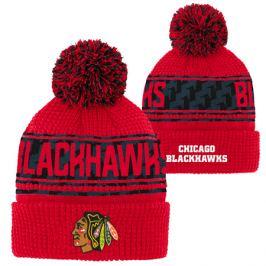 Detská zimná čiapka Outerstuff Pattern Jacquard Cuff Pom NHL Chicago Blackhawks
