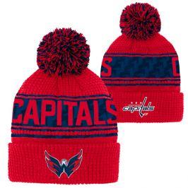 Detská zimná čiapka Outerstuff Pattern Jacquard Cuff Pom NHL Washington Capitals